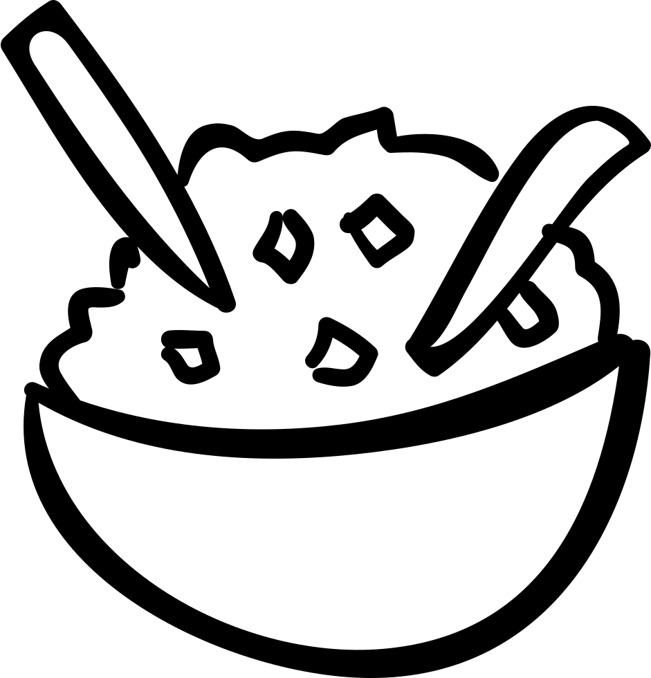 Rice clipart sketch. Bowl drawing at getdrawings