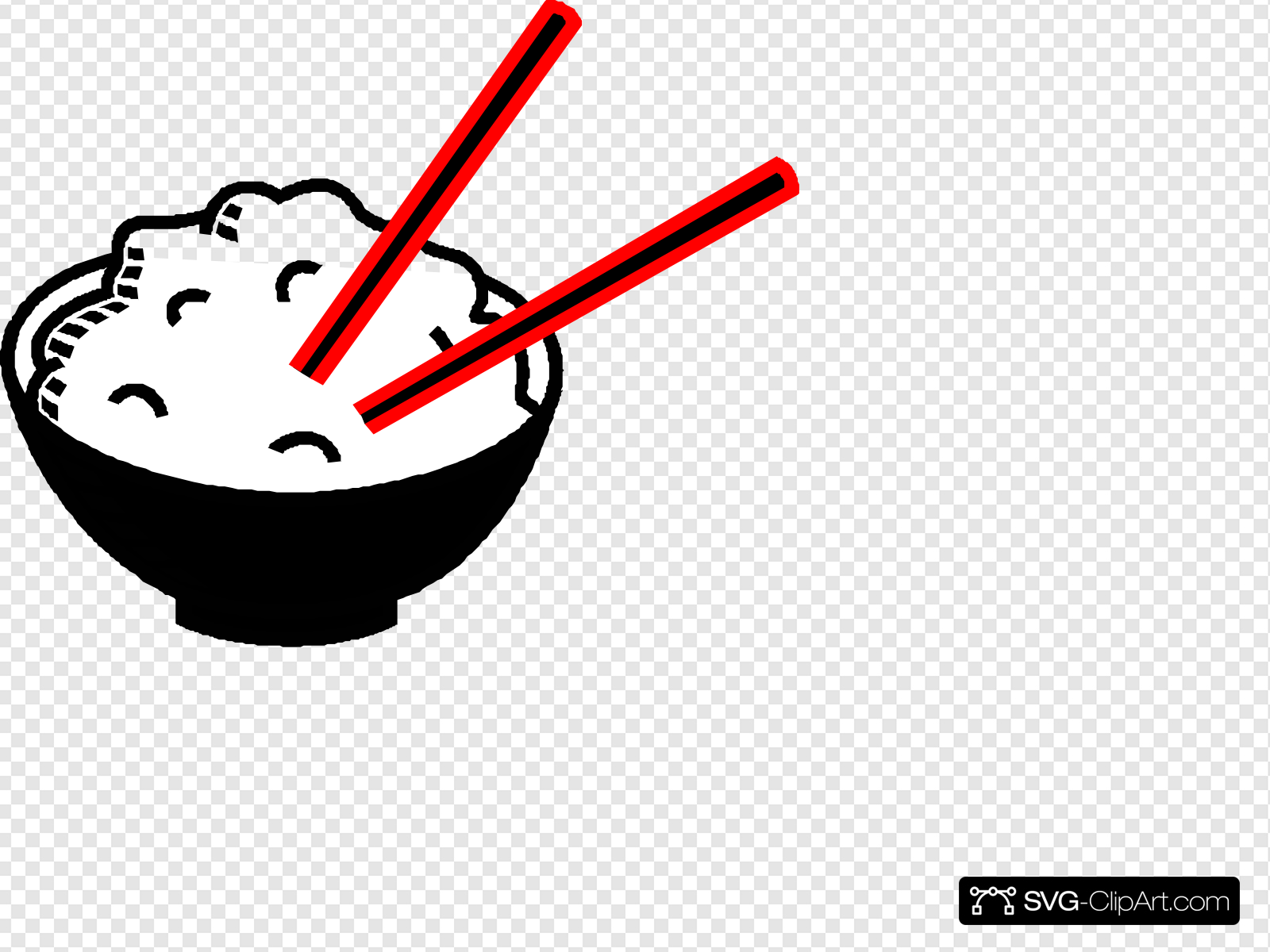 Rice clipart svg. Bowl black and red
