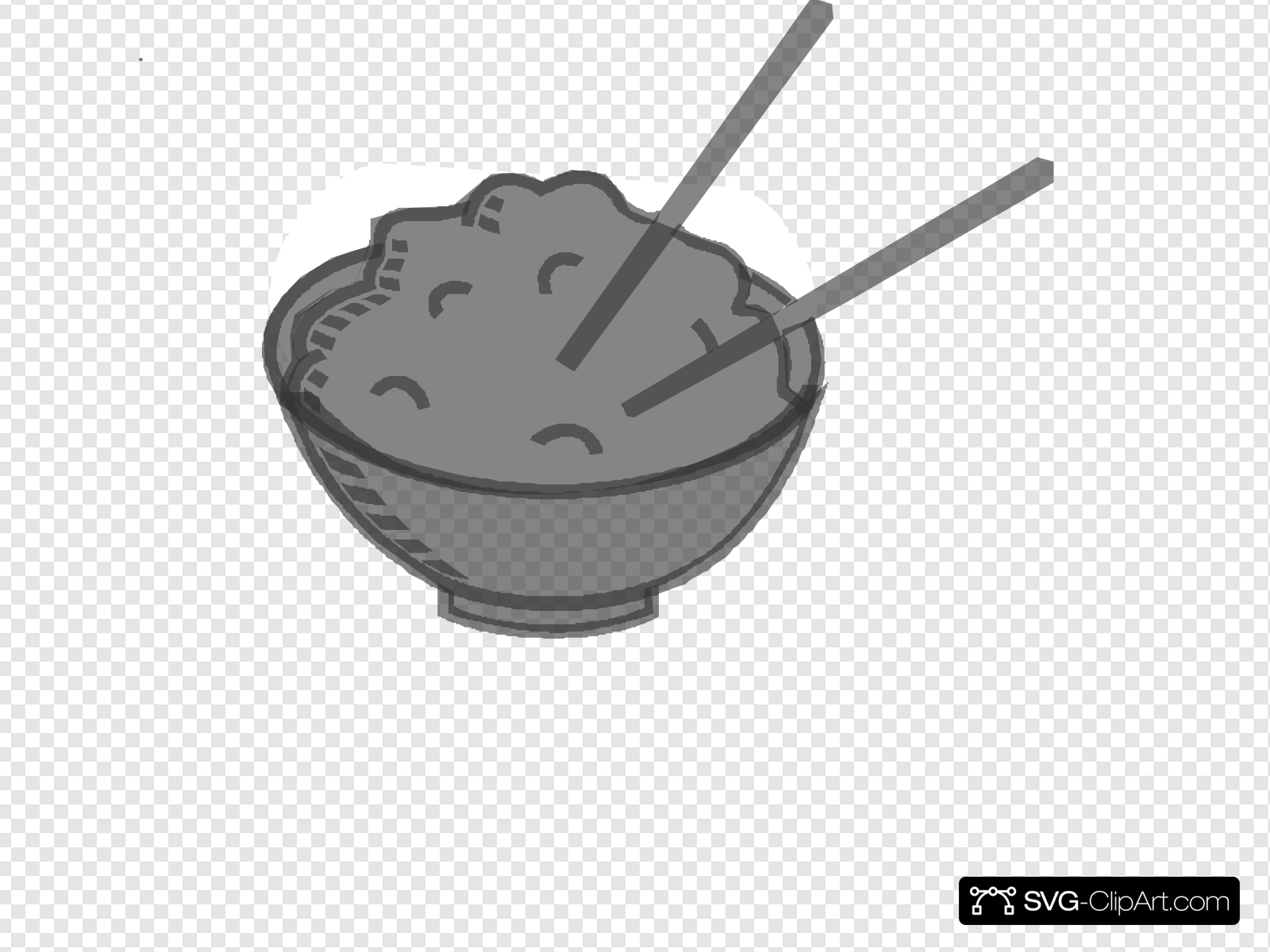 Bowl grey clip art. Rice clipart svg