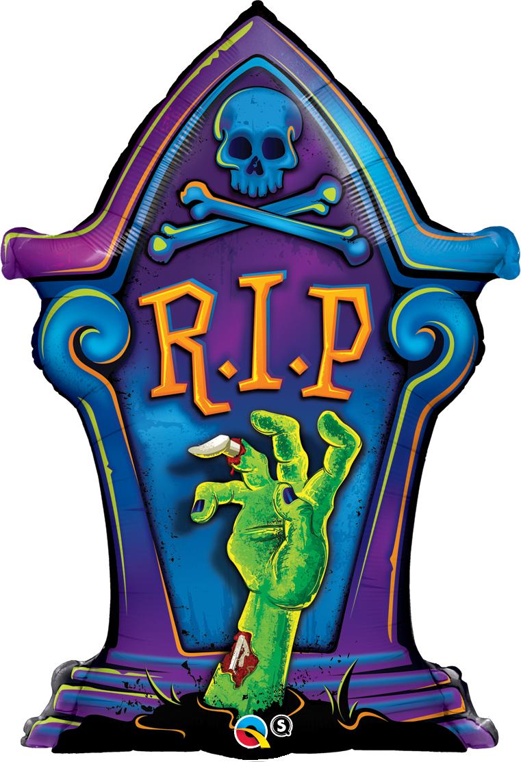 Zombie clipart tombstone.  shape foil r