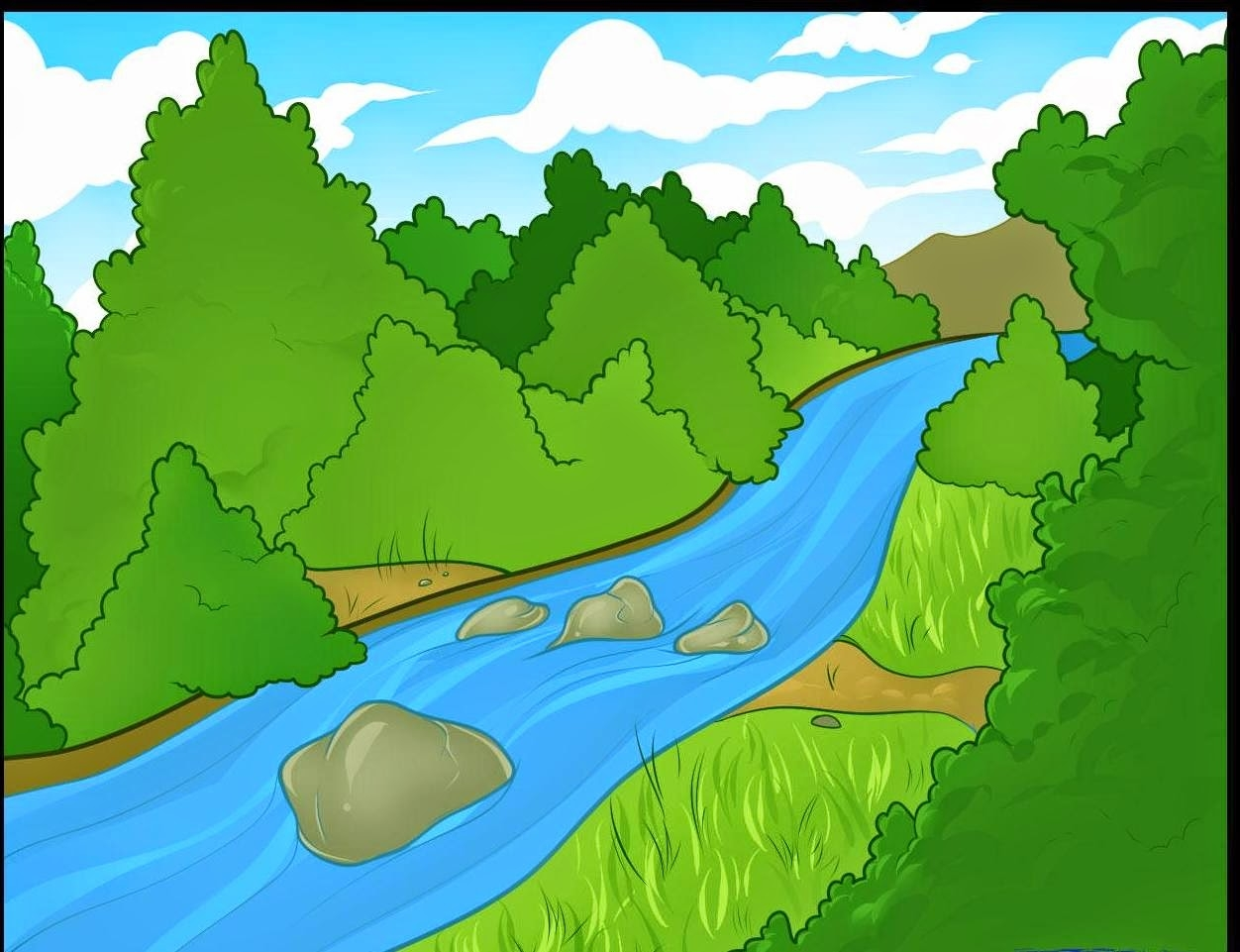 River clipart. Awesome design digital collection