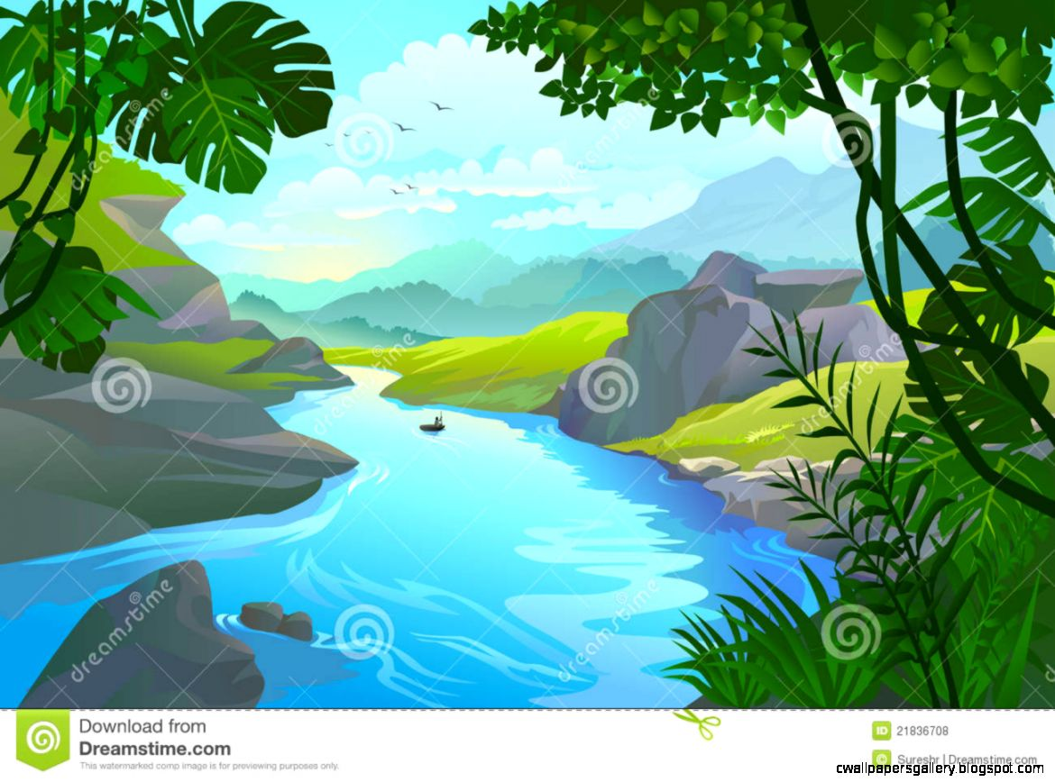 River clipart. Flowing station