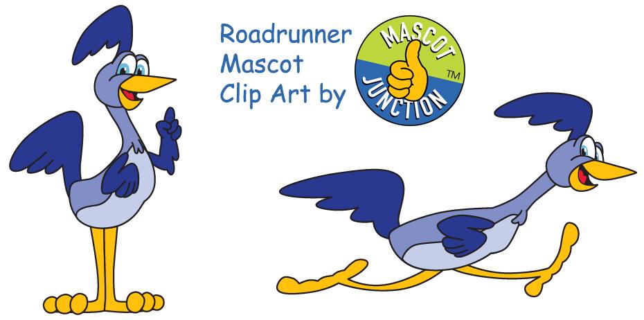 Roadrunner clipart. Mascot junction clip art