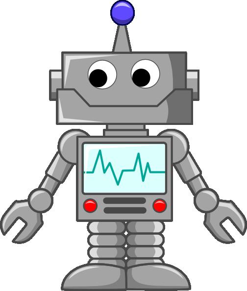 Robot clipart. Cartoon clip art at