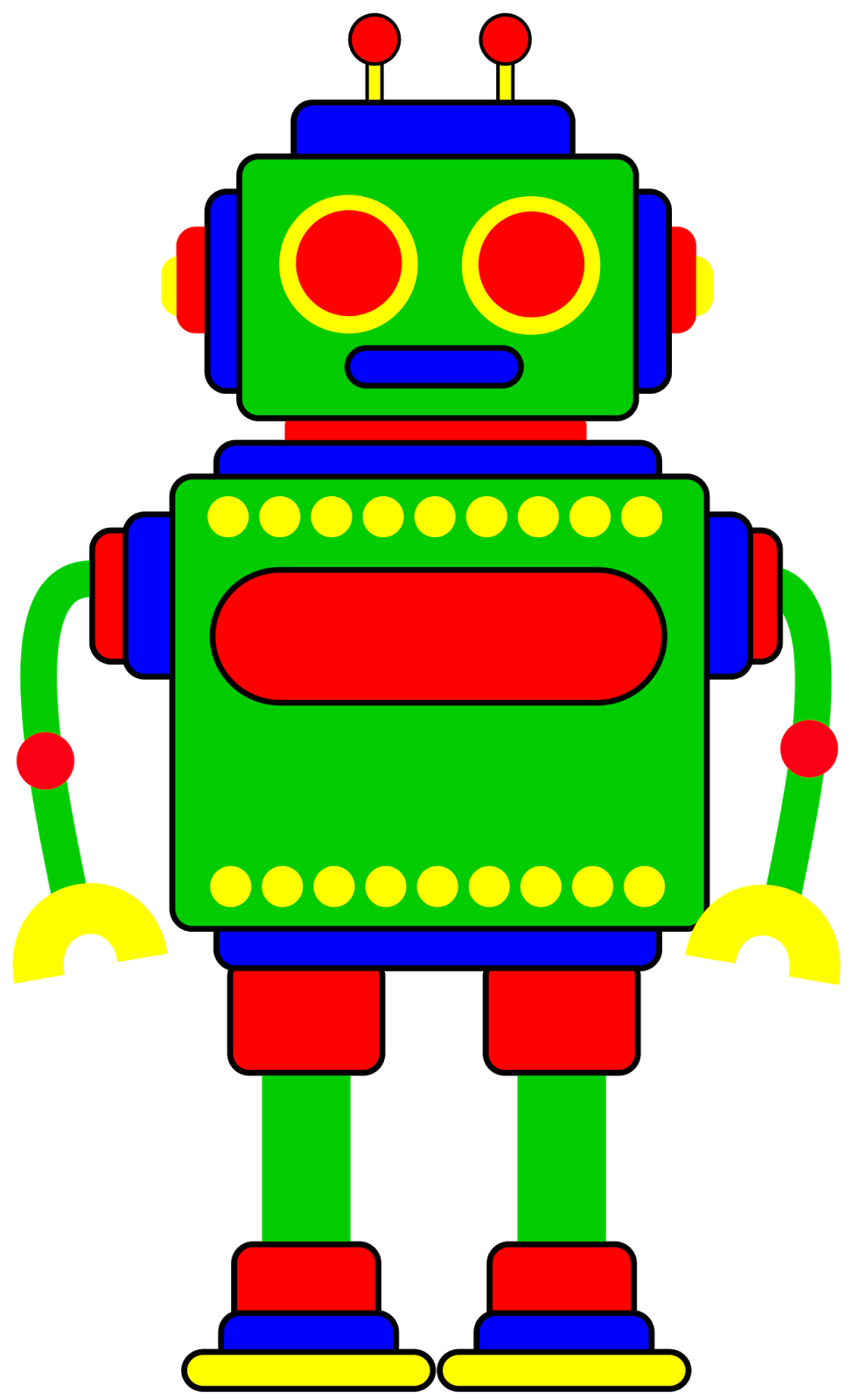 Robot for your project. Retro clipart rugby