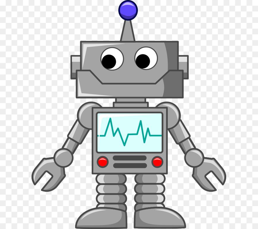 Robot clipart grey. Cute cartoon illustration