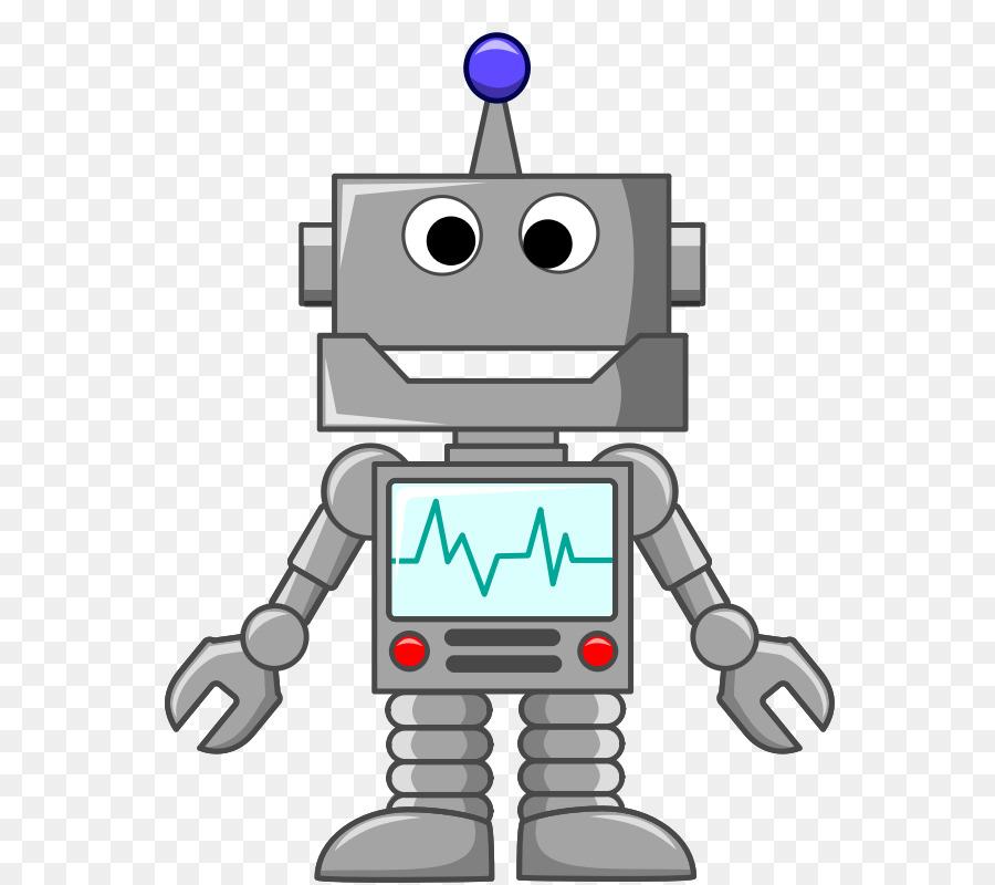 Cartoon background technology . Robot clipart grey