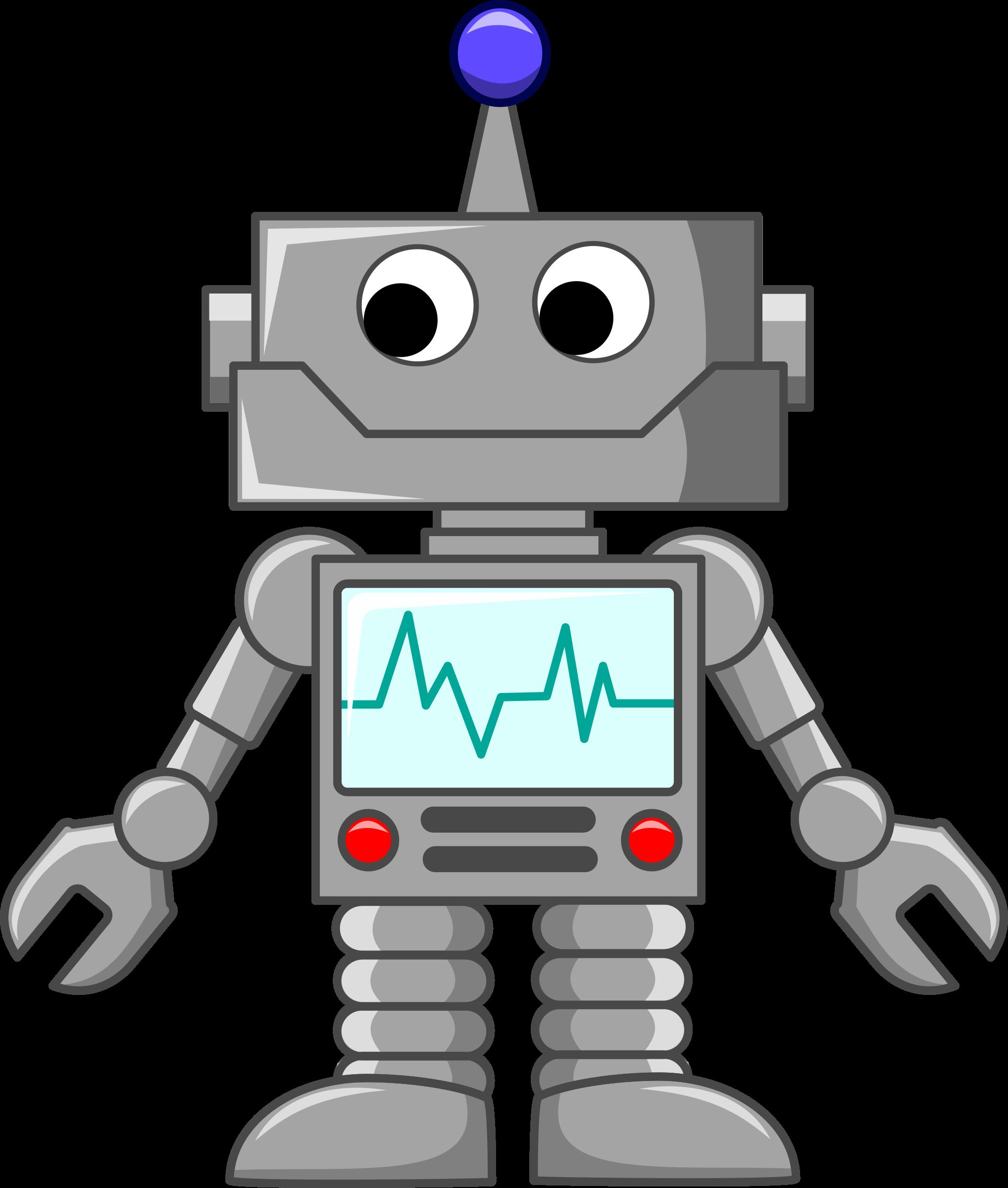 Robot clipart grey. Cartoon by sirrob fabric