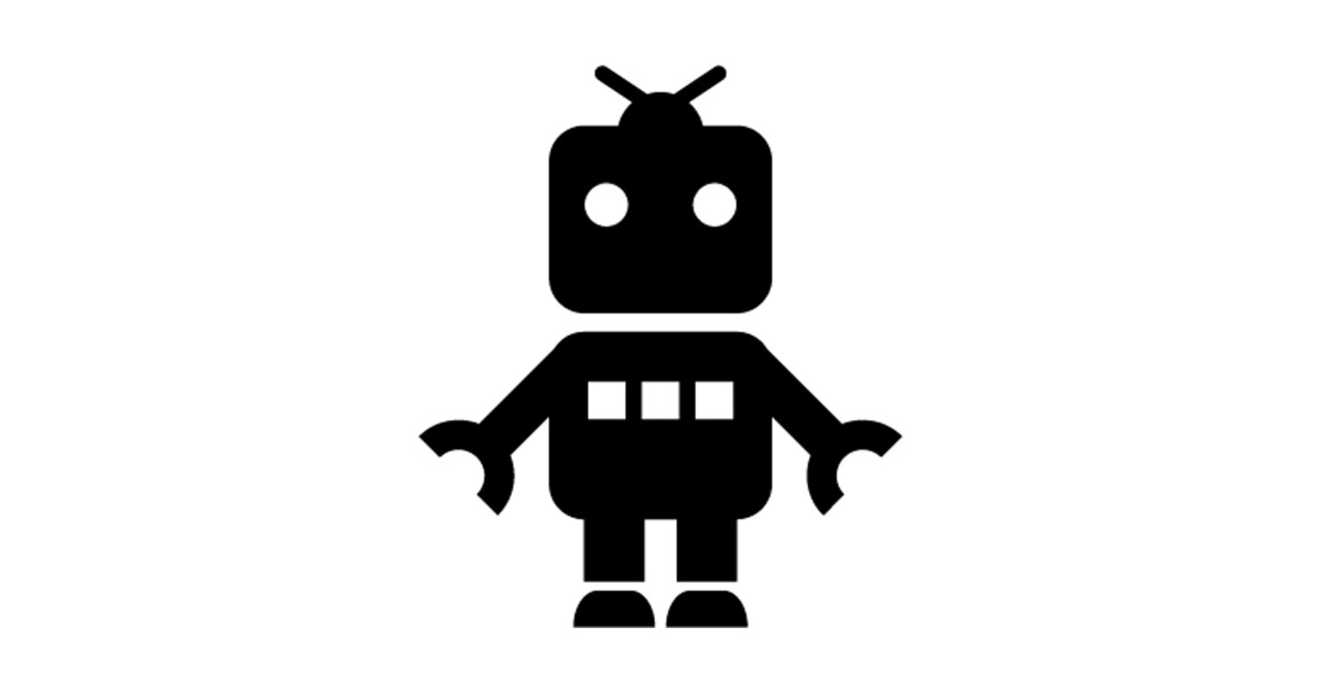 Robot clipart silhouette. Baby toy by australianmate