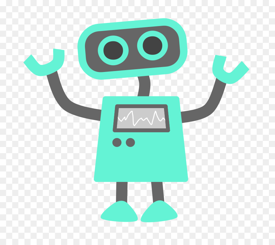 Green blue . Robot clipart transparent background