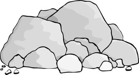 Clipart rock rock fall. Rocks cilpart fancy design