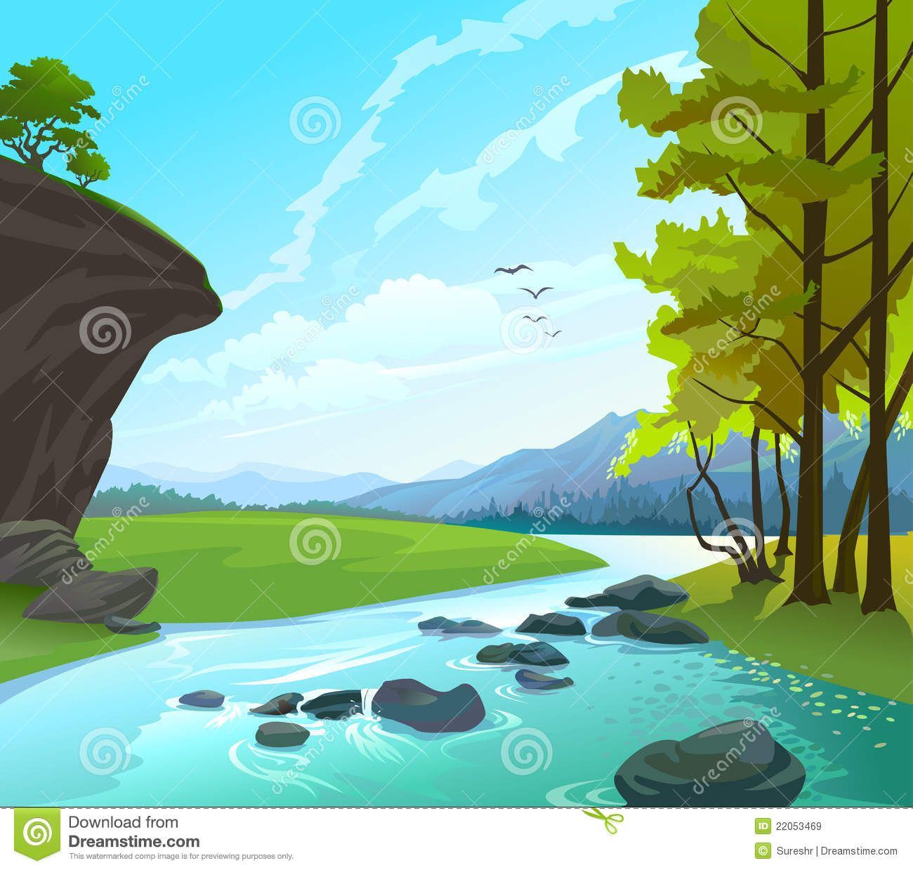 Rock clipart landscape. River rocks design work