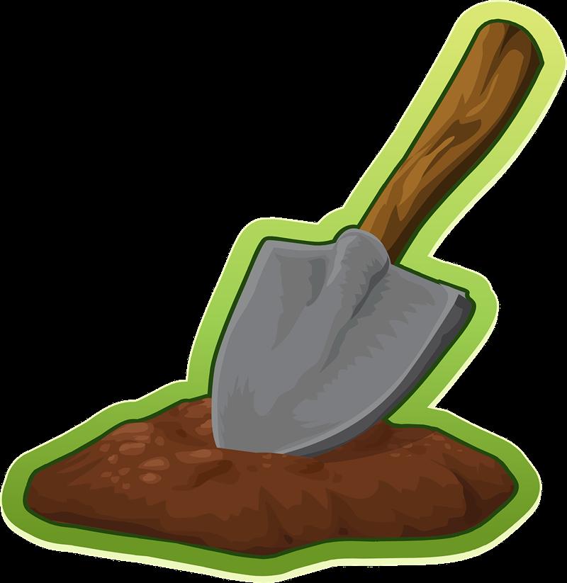 Gardening clipart dig. Shovel dirt free