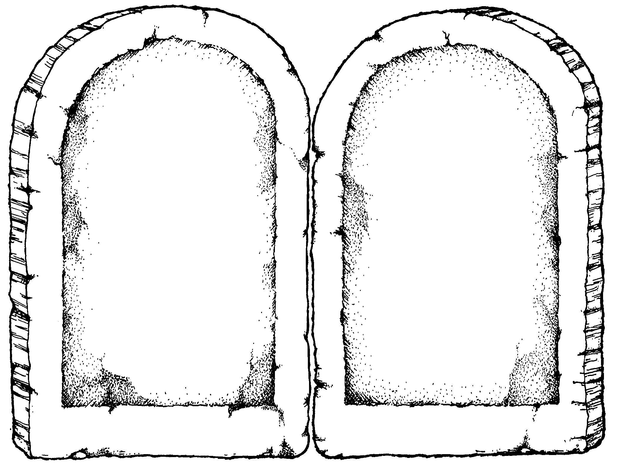 Ten commandments clipart blank. Mormon share stone tablets