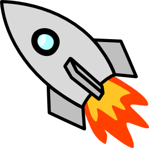 Asteroid clipart spaceship. Rocket black and white