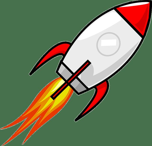 Spaceship clipart pixel. Rocket transparent png stickpng