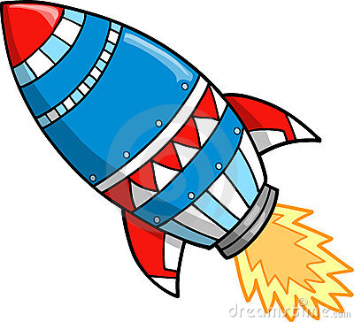 Cute . Clipart rocket