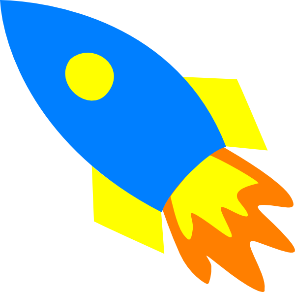 Ship clip art at. Clipart rocket blue