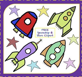 Spaceship clipart star. Free rocketship stars