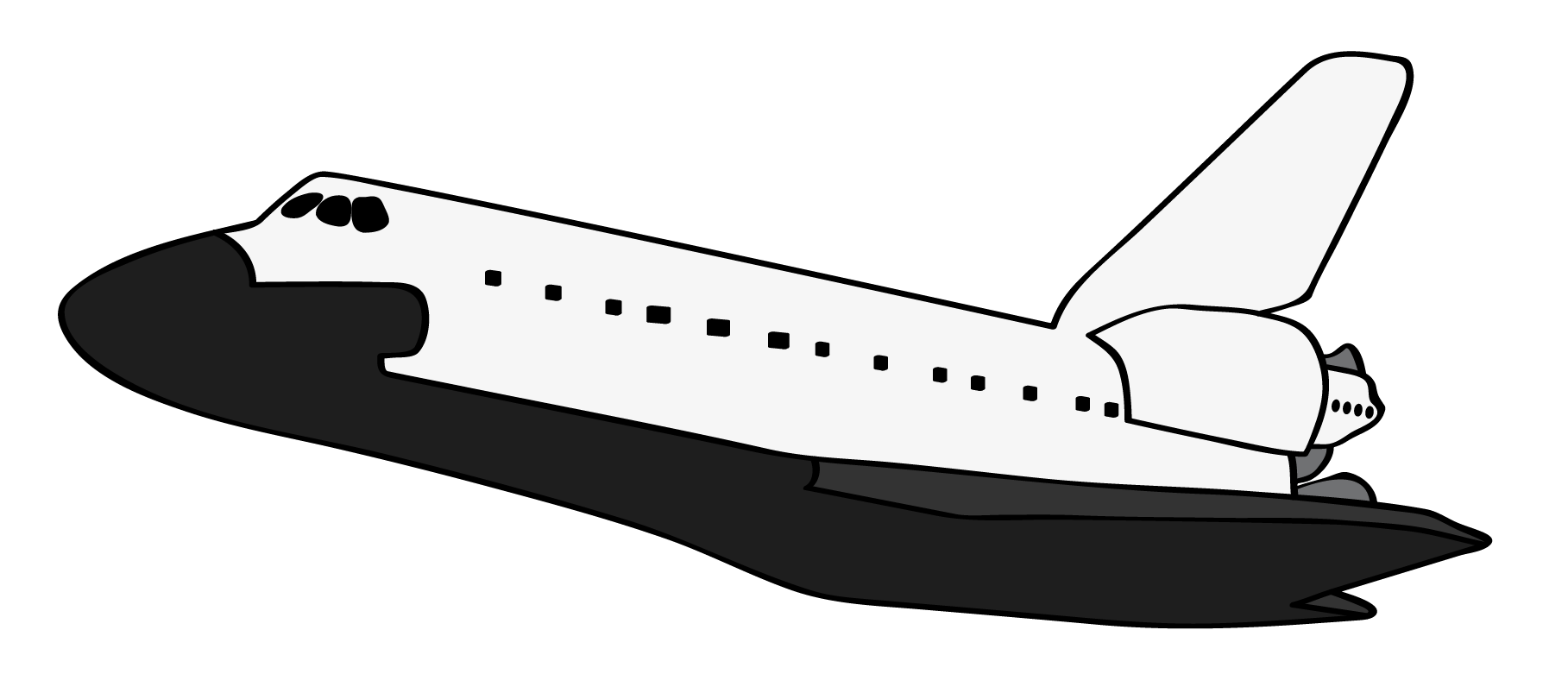 Spaceship clipart aerospace engineering. Space shuttle letters format