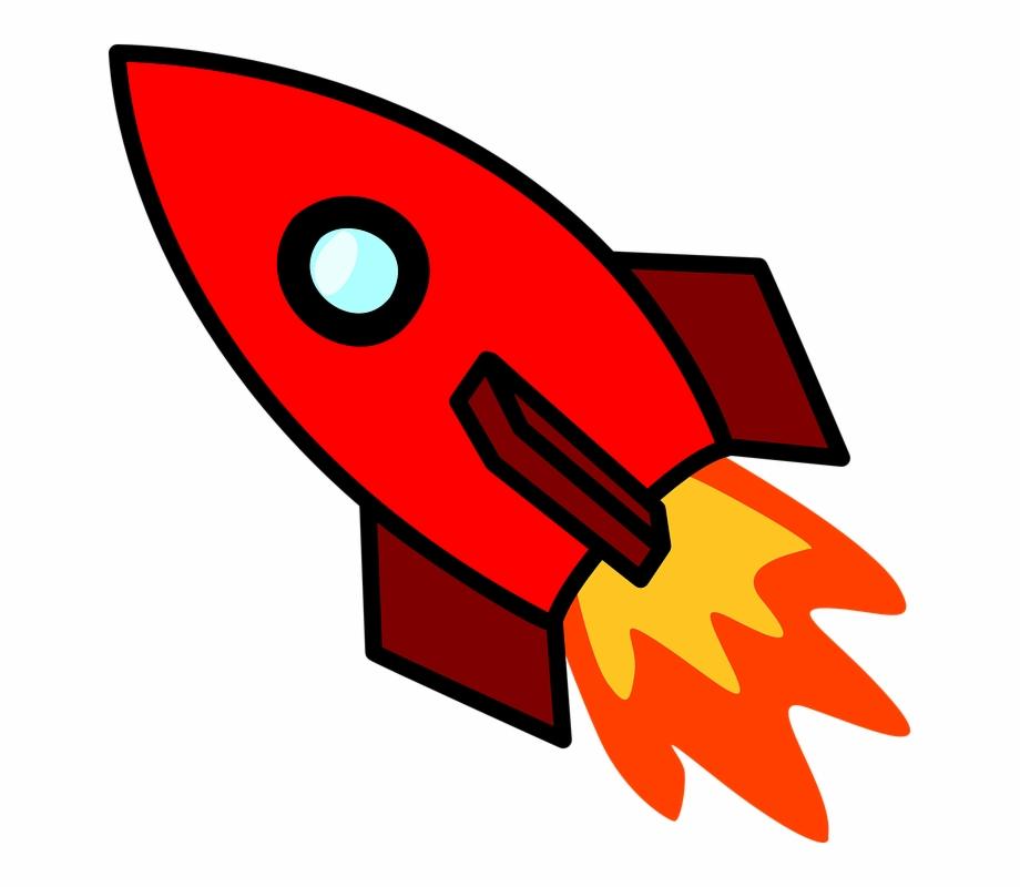 Rocketship clipart svg. Rocket ship red transparent