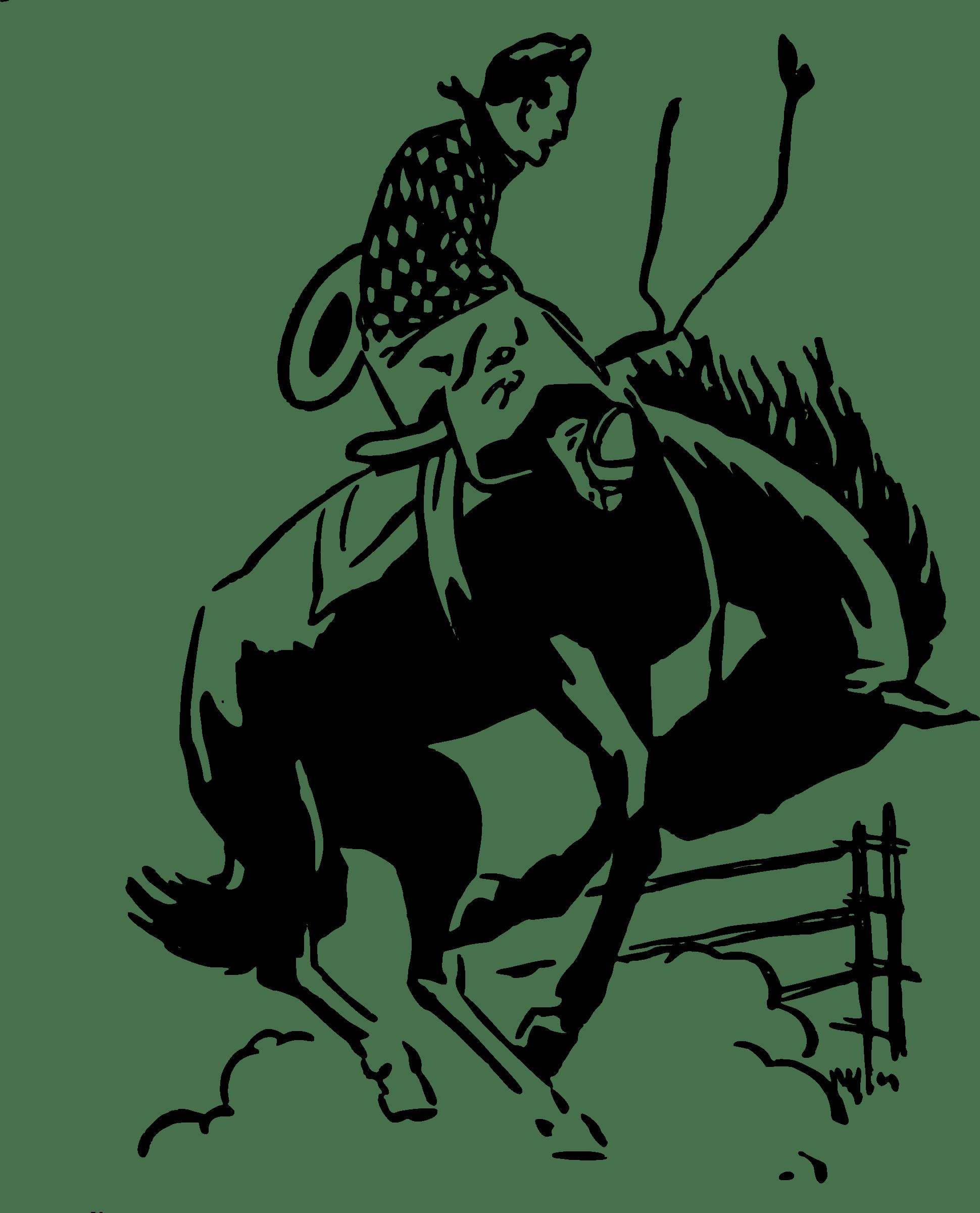 Transparent png stickpng. Cowboy clipart rodeo