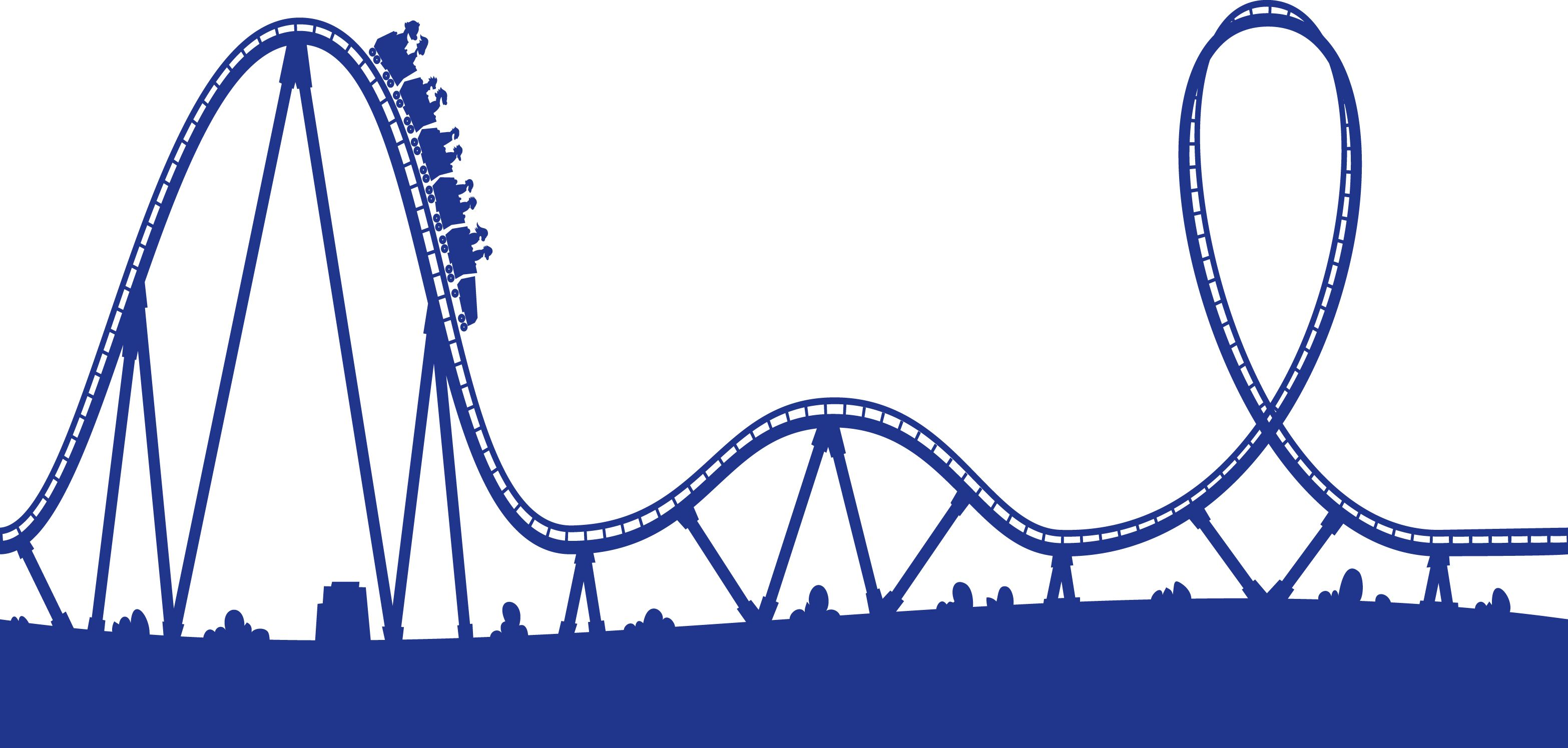 Rollercoaster clipart. Roller coaster track bullets