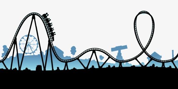 Roller coaster sky cartoon. Rollercoaster clipart