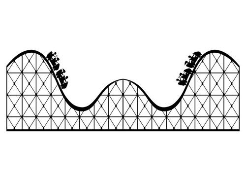 Roller coaster large wall. Rollercoaster clipart