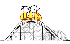 Rollercoaster clipart. Roller coaster station surprise