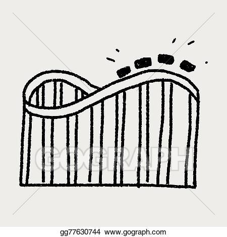 Eps illustration roller coaster. Rollercoaster clipart