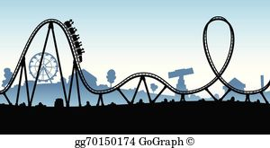 Rollercoaster clipart. Clip art royalty free