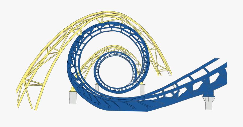Roller coaster transparent free. Track clipart cartoon