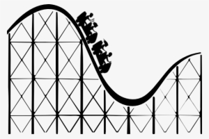 Rollercoaster clipart simple. Roller coaster drawing free
