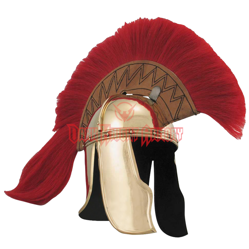 Brass officers helm ed. Roman helmet png