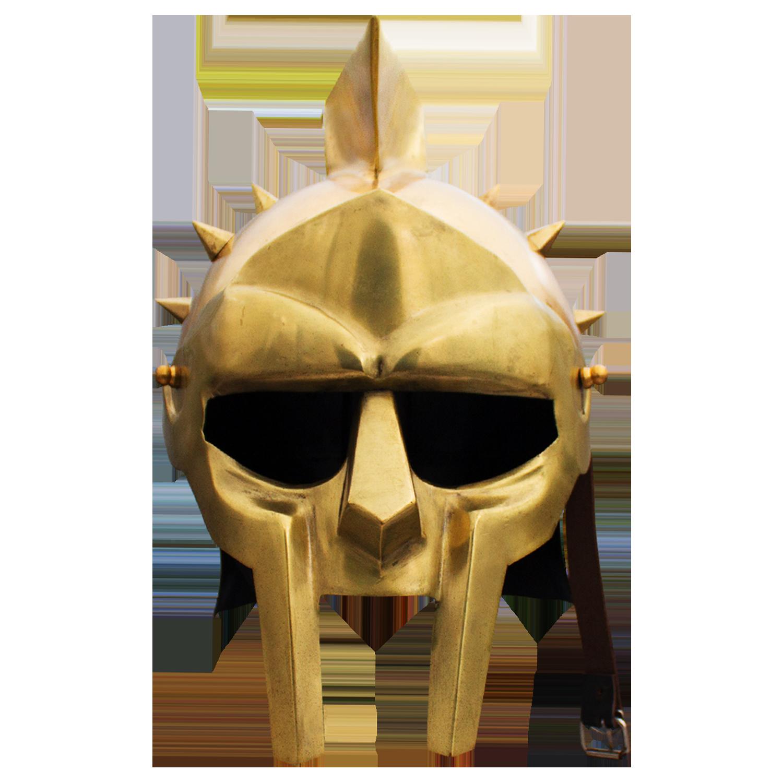 Arena spiked gladiator golden. Roman helmet png
