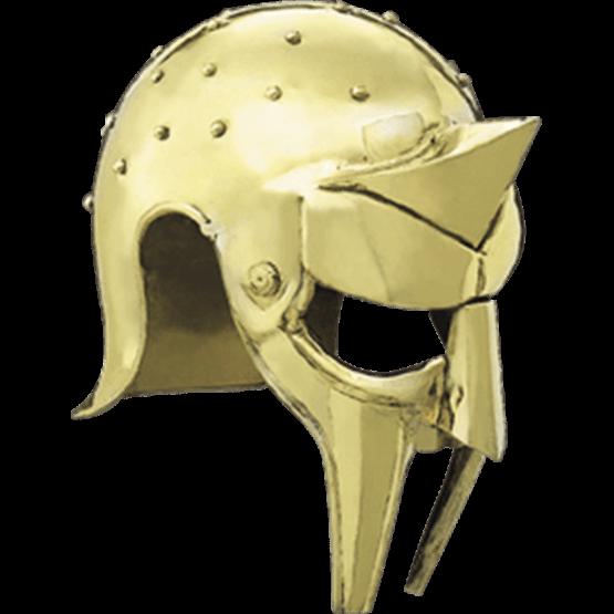Brass gladiator arena ah. Roman helmet png