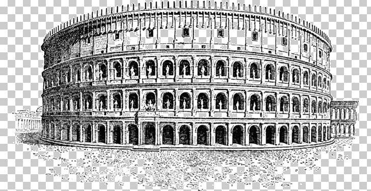 Colosseum roman forum historic. Rome clipart black and white