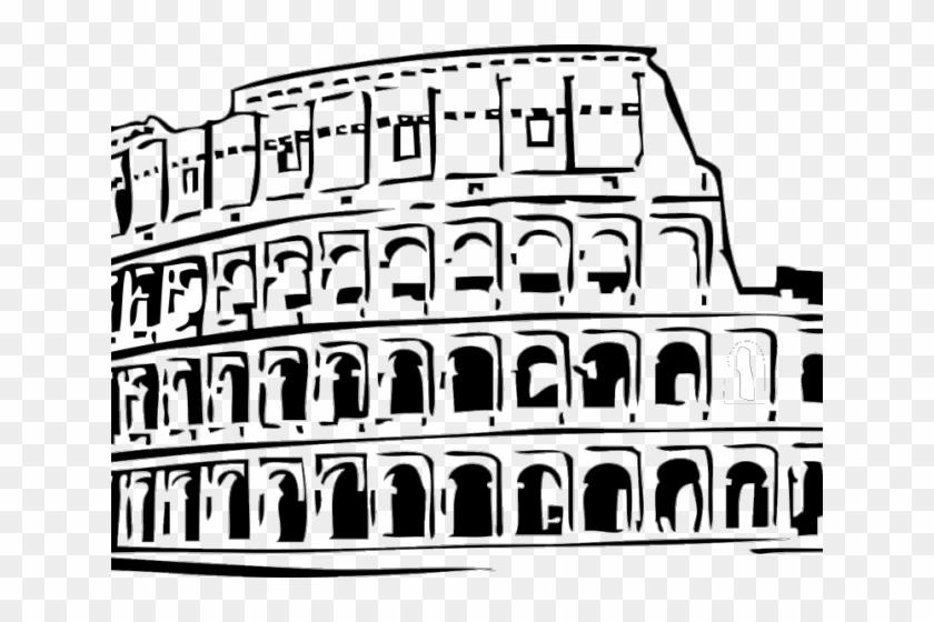 Colosseum colloseum . Rome clipart black and white