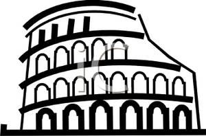Rome clipart black and white. Picture roman coliseum