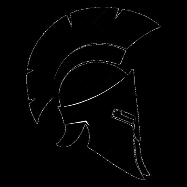 Greek helmet png. Sparta galea silhouette roman