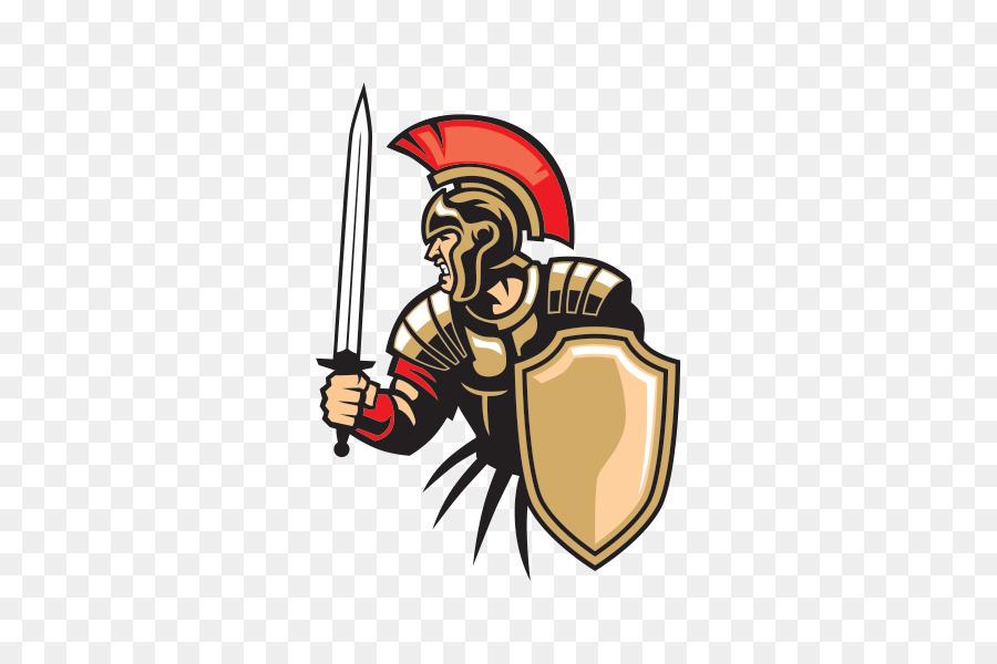 Army cartoon soldier illustration. Warrior clipart military roman