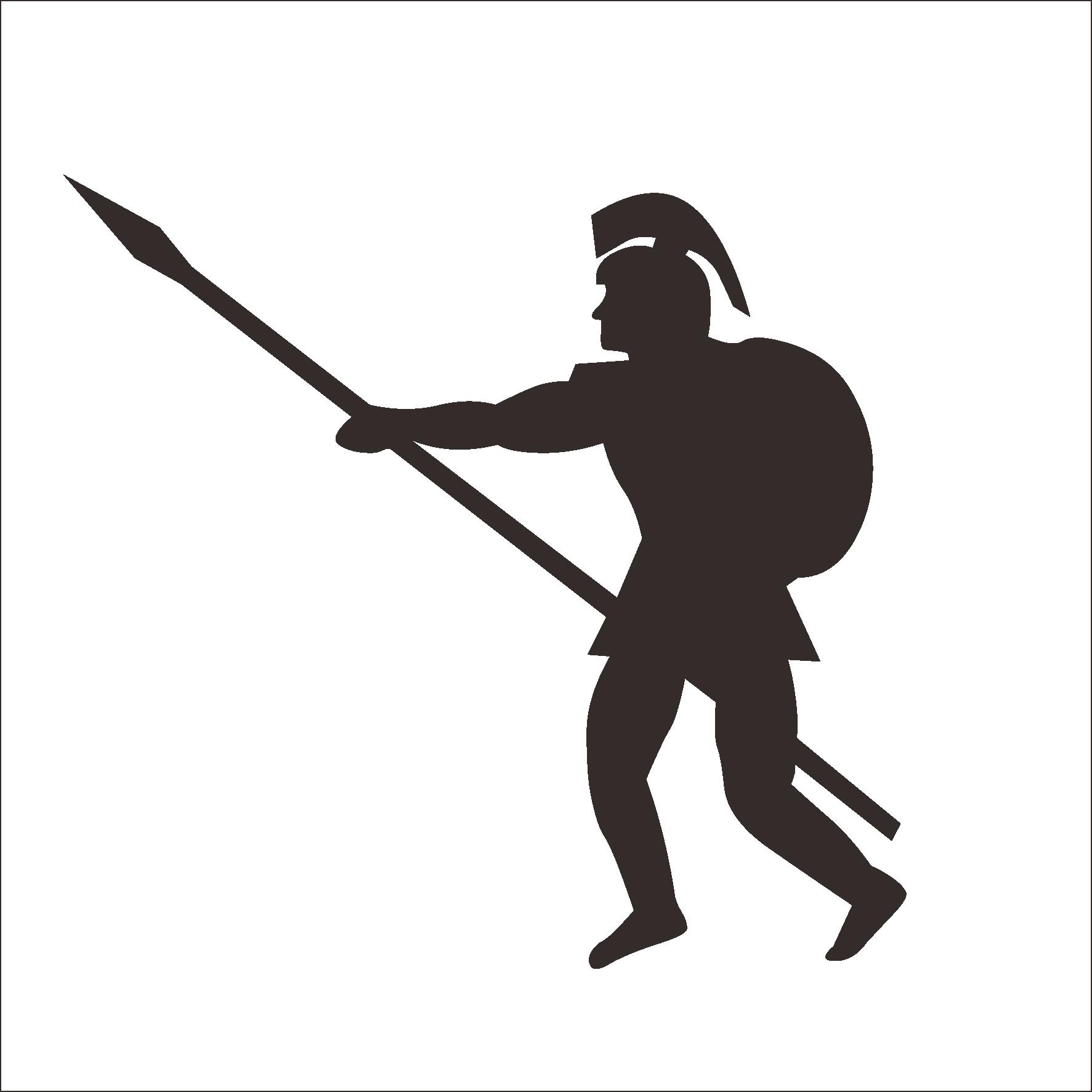 Ancient rome clip art. Silhouette clipart soldier