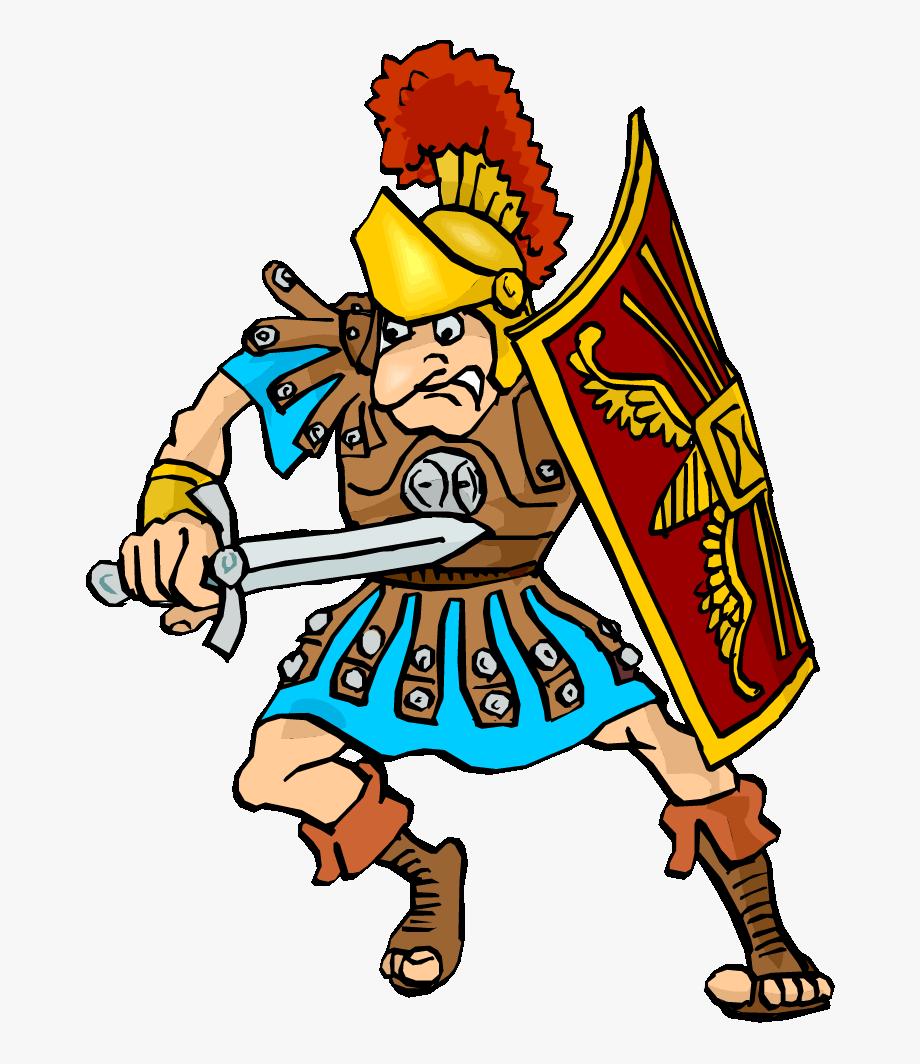 Warrior clipart ancient warrior. Roman warriors person soldier