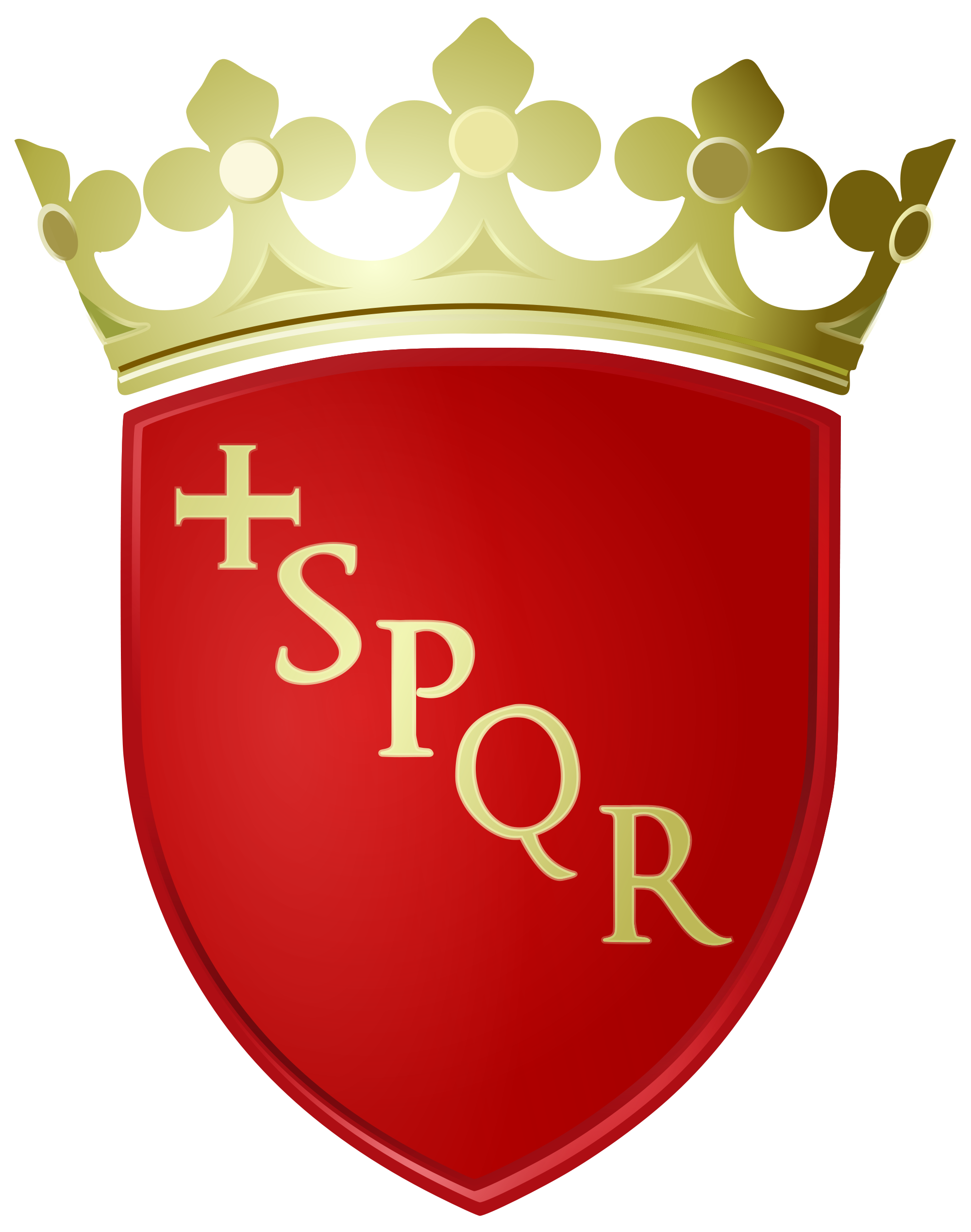 Image coat of arms. Rome clipart sheild