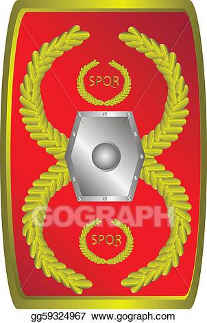 Vector stock roman legionary. Rome clipart sheild