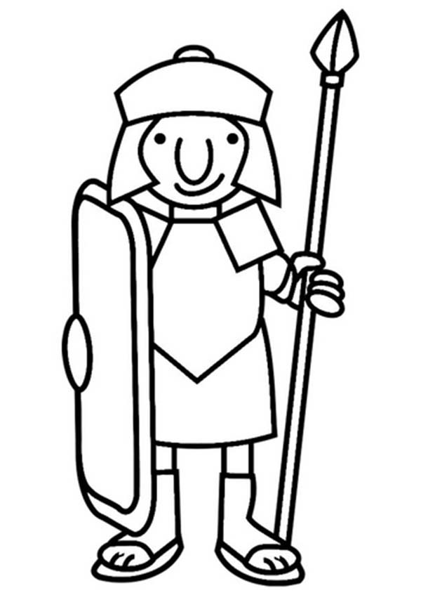 Free roman warrior art. Rome clipart simple