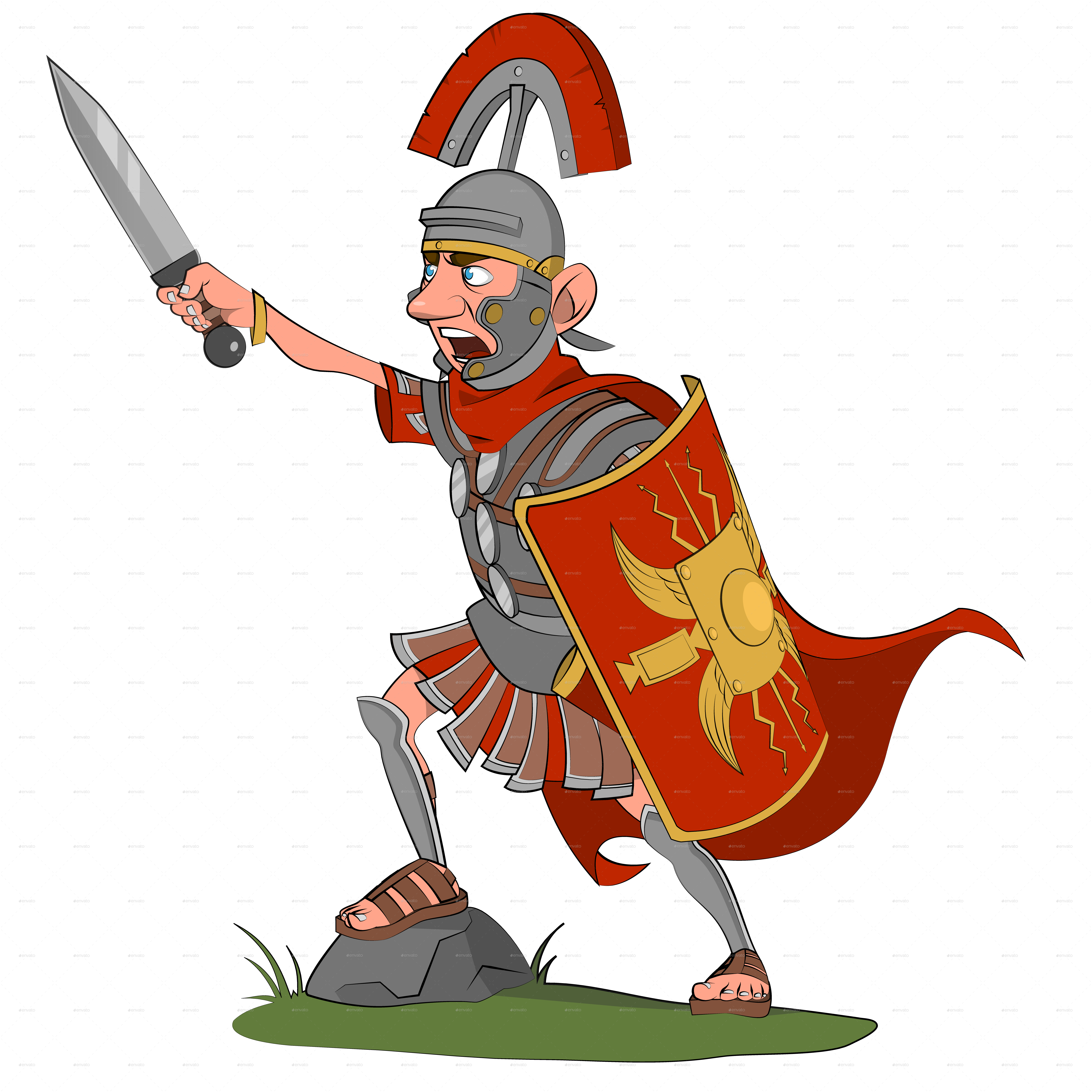 Warrior clipart military roman. With sword by gatts