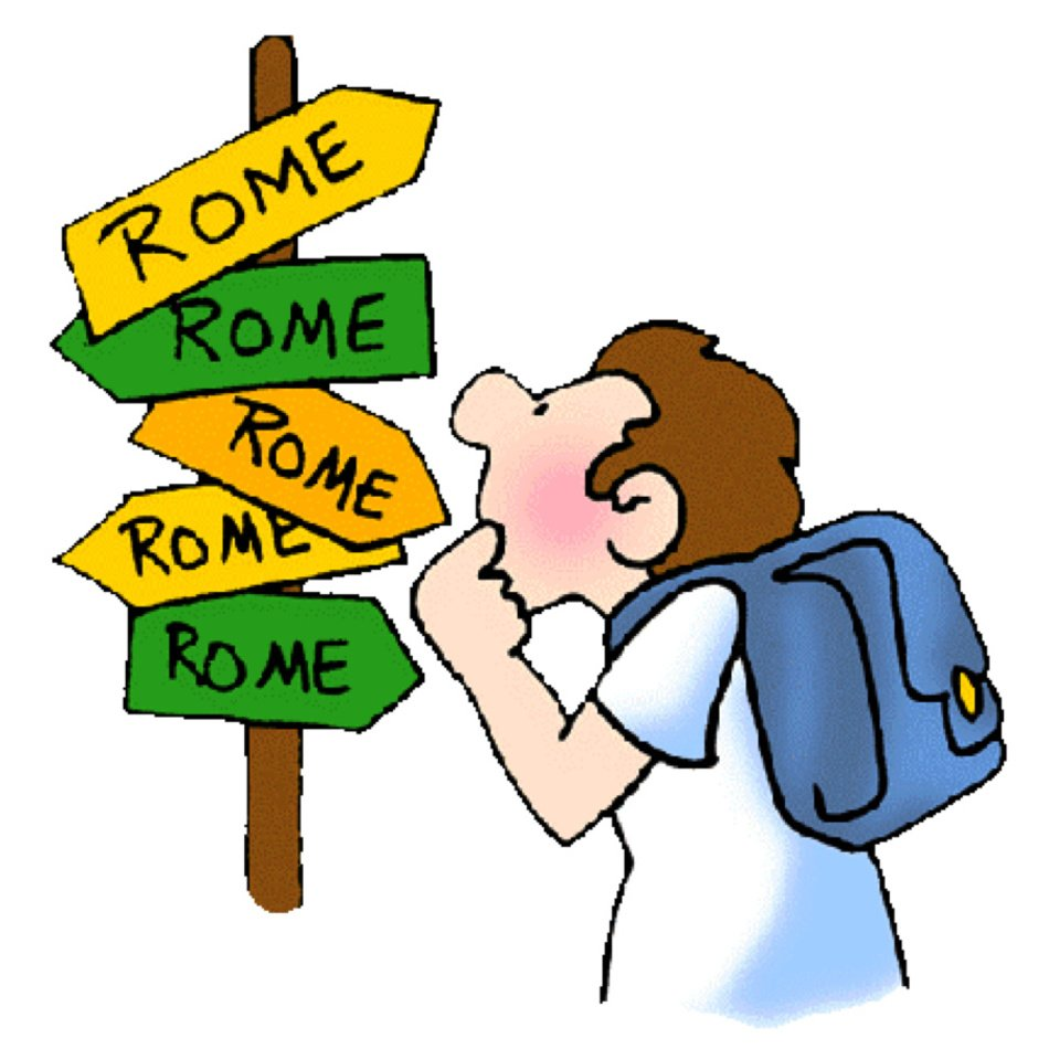 Rome clipart technology. All roads lead to