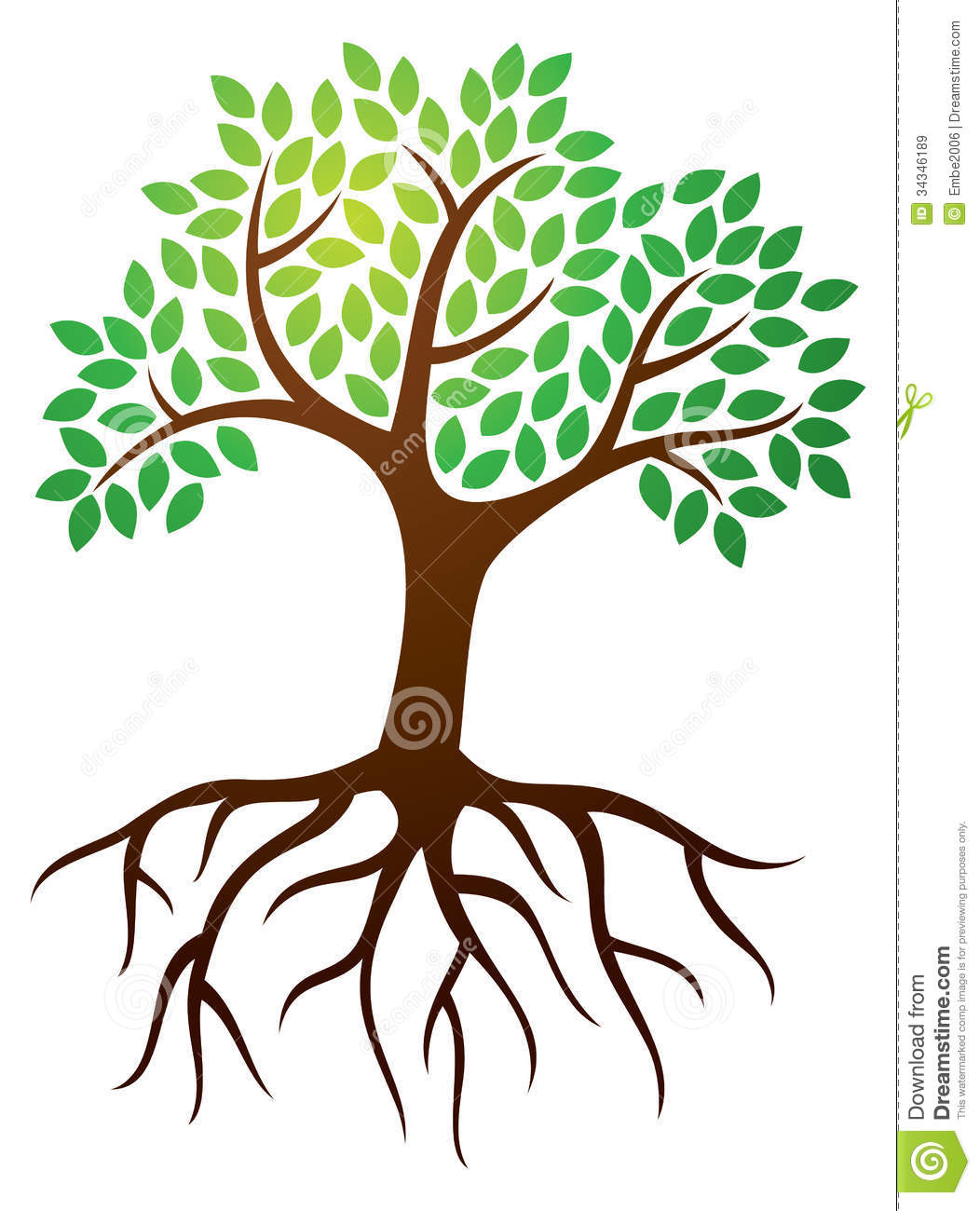Trees with . Roots clipart